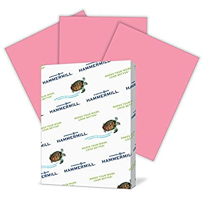 Hammermill Paper, Colors Cherry, 20lb, 8.5 x 11, Letter, 500 Sheets / 1 Ream, (102210R), Made in the USA