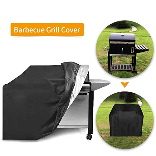 Essort Barbecue Cover, Drawstring Breathable Waterproof Polyester Anti-Dust Protection Cover for Barbecue Grill (31.5