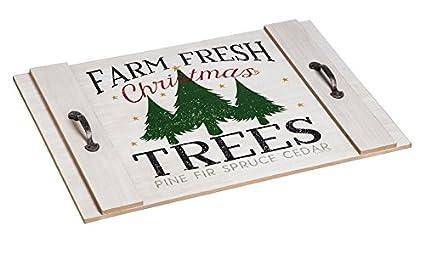 Cypress Home Farm - Bandeja Decorativa de Madera para árboles de Navidad