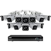 Lorex 16 channel NR9163 4K home security system with 12 8MP 4K LNB8111B Bullet Cameras - 4KHDIP1612W