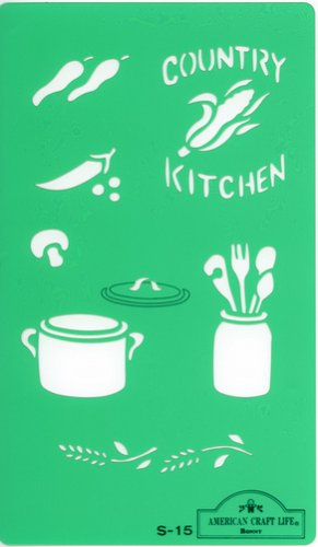 American Craft stencil plate S-15 (japan import)