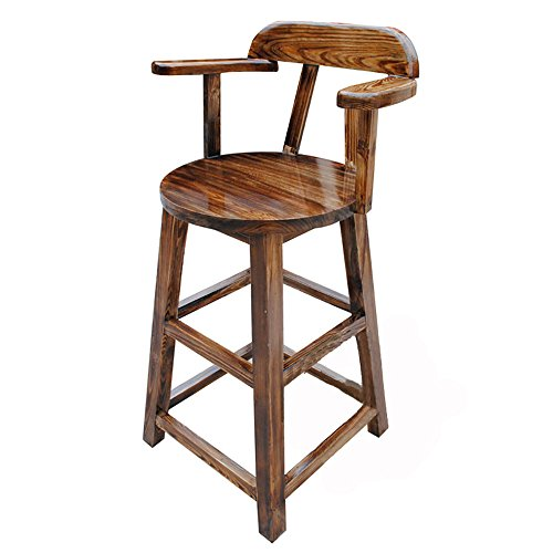 Price comparison product image ZAYJD XRXY Carbonization Solid Wood Bar Stool / Creative Front Desk Chair / Foyer High Stool (110 45 cm)