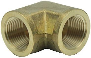 LTWFITTING Brass Pipe Fitting Female 90 Deg 1//2-Inch NPT Elbow Fuel Air Pack of 5