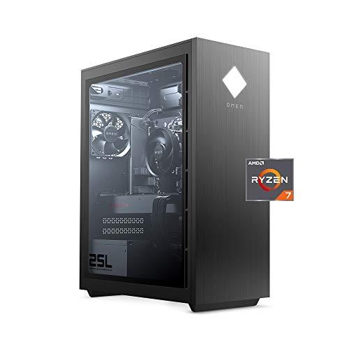 OMEN 25L Gaming Desktop PC, AMD Radeon RX 5700, AMD Ryzen 7 3700X, HyperX 16 GB DDR4 RAM, 1 TB SATA Hard Drive & 512 GB…