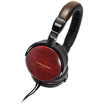 Audio Technica ATHESW9A Portable Wooden Headphones