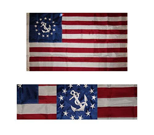 Moon 3x5 Embroidered USA Nautical Yacht Ensign 210D for sale  Delivered anywhere in USA