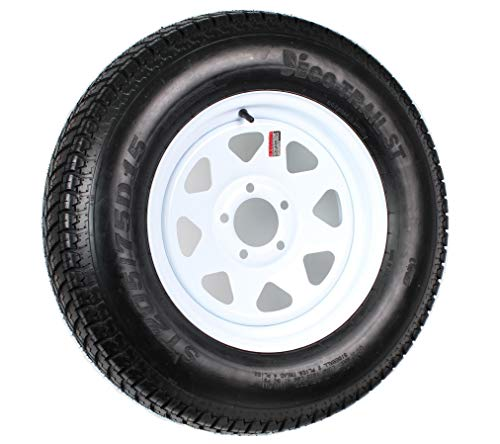 - 5-Hole High Speed Spoked Rim Design Trailer Tire Assembly - ()