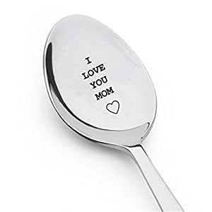 I Love You Mom Engraved Spoon,gift for mom,best selling items,mom birthday gift,mom gifts,mom birthday,mommy and me,mom to be,mom of boys,ice cream spoon