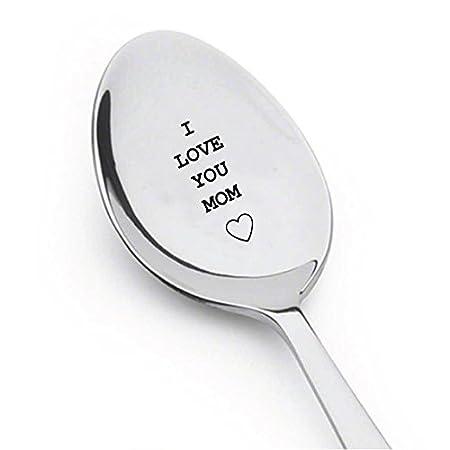 I Love You mamá grabado cuchara, regalo para mamá, mejor ...