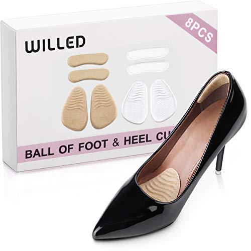Heel Cushion Inserts Metatarsal Cushion- Anti-Sweat & Anti-Slide High Heel Pads Comfortable Ball of Foot Cushions Shoe Heel Pads Heel Grips Liners for Women Shoes Heel Protectors No Heel Pain