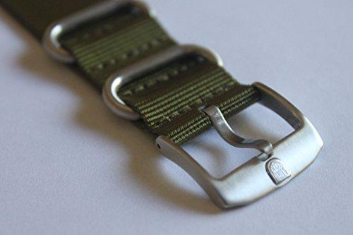 Genuine OEM Luminox 22mm NATO/ Zulu Strap Band - Military Green Fit Luminox 3050 3950 SEAL NAVY EVO COLORMARK FN.3900.60.2 by Luminox (Image #2)