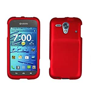 Red Rubberized Hard Case Cover for Kyocera Hydro Edge