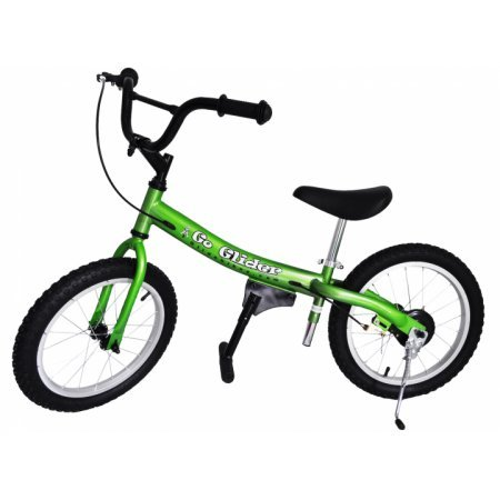 Glide Bikes Go Glider Kid's Balance Bike, Green, 16-Inch by Glide Bikes