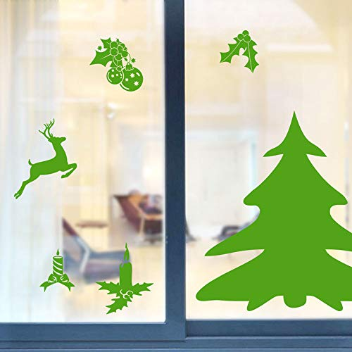 Mysky Christmas Removable Window Stickers Art Decal Wall Home Shop Decor -