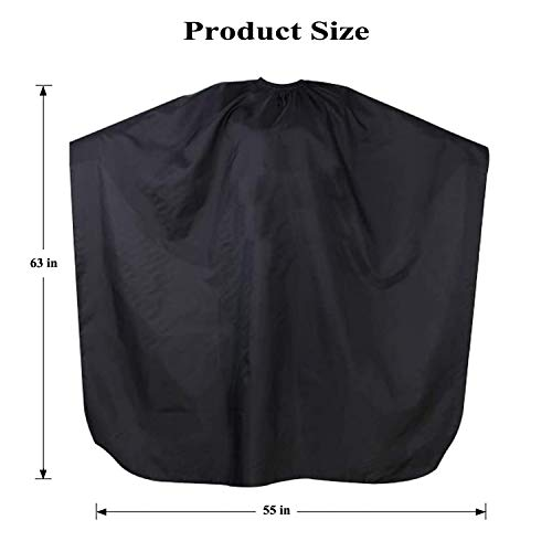 Hair Cutting Cape Nylon Waterproof Professional Anti-Static Stain Resistant Coloring Cloak Beard Dye Apron Salon Hairdressing Smock Shampoo Resistant Cloth Cover - 63 x 55 inch