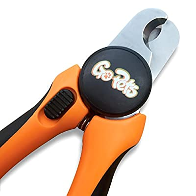 GoPets Nail Clippers for Dogs & Cats with 1 Nail File, Orange / Black