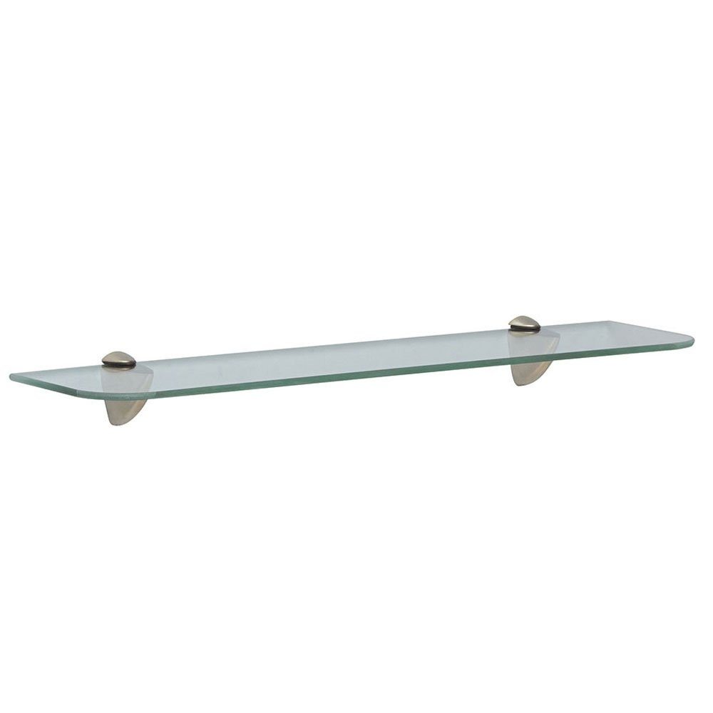 Shelf-Made KT-0134-618ZSN Wave Glass Shelf Kit, Satin Nickel, 6-Inch by 18-Inch Knape & Vogt