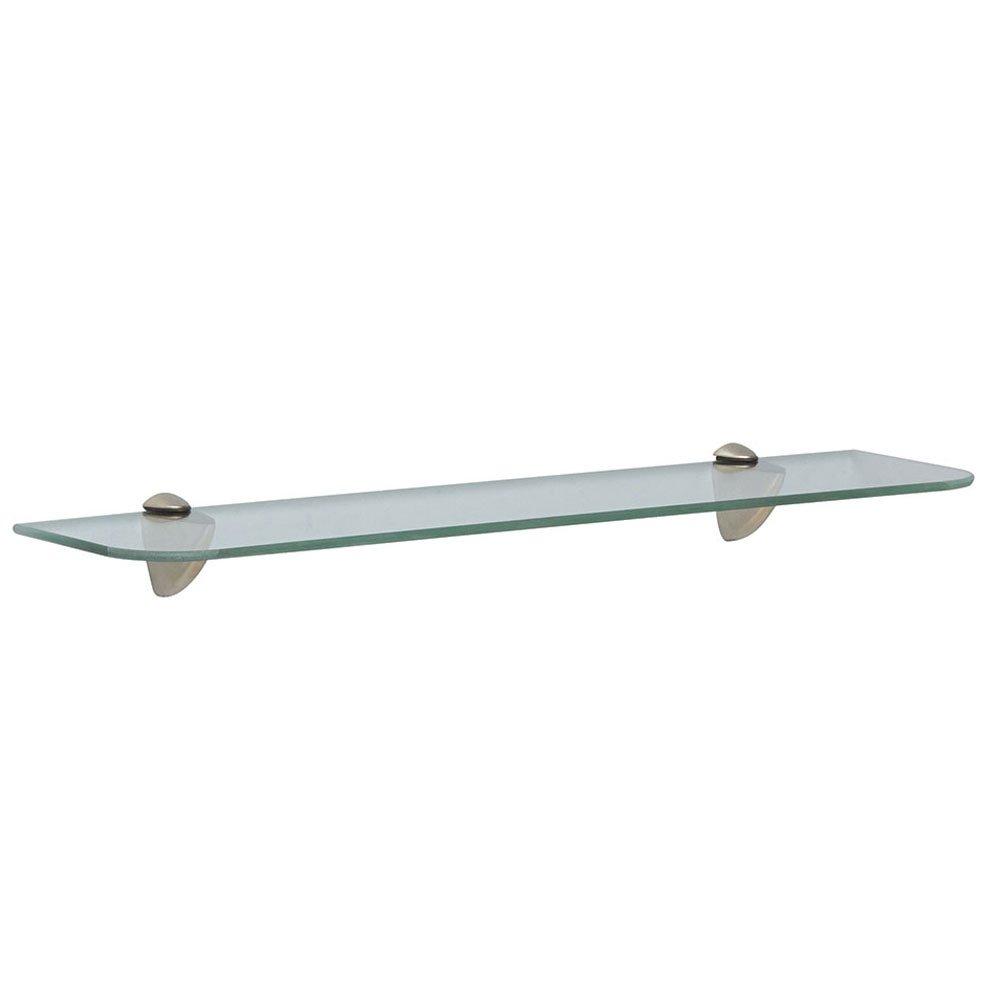 Shelf-Made KT-0134-624SN Glass Shelf Kit, Satin Nickel, 6-Inch by 24-Inch