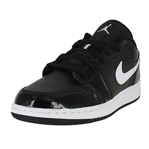 new style bfe1c 856c9 Galleon - Jordan Kids AIR 1 Low BG Black White University RED Size 7