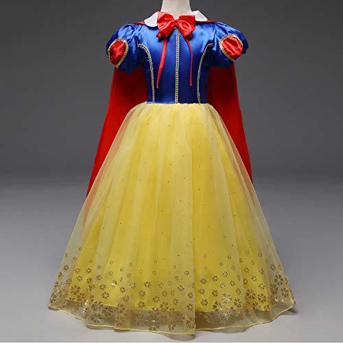 IBTOM CASTLE Blancanieves Disfraz con Capa Carnaval Traje de Princesa para Halloween Vestido Largo Navidad Fiesta Cumpleaños Cosplay Elegantes Comunión ...