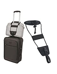 Luggage Strap gLoaSublim,Add A Bag Strap Luggage Suitcase Portable Adjustable Belt Carry-on Bungee Travel - Black