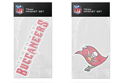 - Rico Industries NFL Tampa Bay Buccaneers 2-Pack Die Cut Team Logo Magnet Set