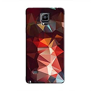 Cover It Up - Dark Red Pixel Triangles Samsung Galaxy Note 4 Hard Case