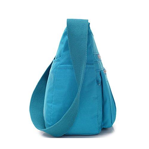 TianHengYi bandolera Bolso Claro mujer Azul rrw5zZqxS