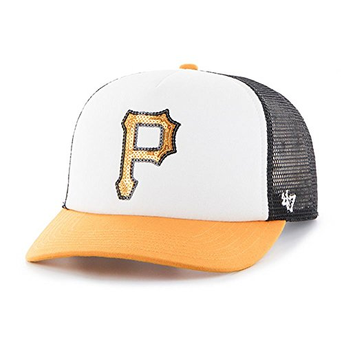 fan products of MLB Pittsburgh Pirates Women's Glimmer Captain Adjustable Snapback Hat, Black