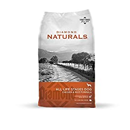 Diamond All Life Stages Real Meat Recipe Dry Dog Food with Premium Ingredients with Grain & Real Cage Free Chicken 40lb