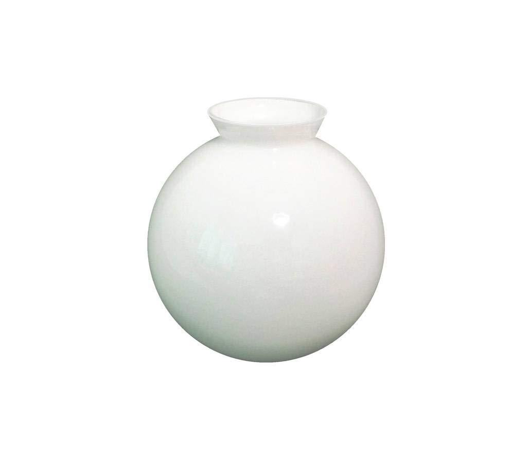 Sostituzione vetro bianco globo paralume per luce ventilatore da soffitto. Diametro esterno della base: 7.7cm, Apertura: 6.5cm diametro, Massimo larghezza: 15.0cm diametro, Altezza: 15.5cm Glass Technology Co.
