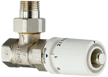 Runtal CONTROL-ANG Hydronic 1/2-in Standard Angle Thermostatic Control Valve