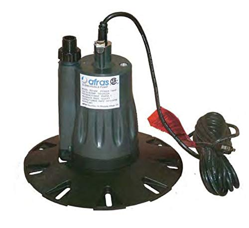 Afras Industries Pool Cover Pump 1/4HP with Electronic Control and Stabilizer Base