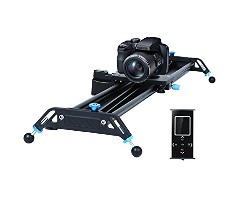 Motorized Camera Slider Dolly Video Track with Time Lapse Duration and Auto Loop Track System and Wide Angle Shot Aviation aluminum A&J 31""