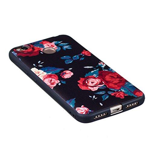 Xiaomi Redmi 4X Funda , IJIA Ultrafino Pandas Lindo TPU Negro Silicona Suave Cover Tapa Caso Parachoques Carcasa Cubierta para Xiaomi Redmi 4X (BF36) BF44