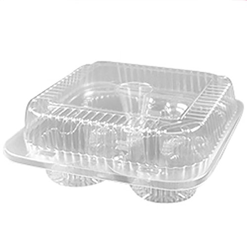 1/3 Dozen Cupcake Container (4 cavities), 6 ct. (4ct Plastic Cupcake Containers)