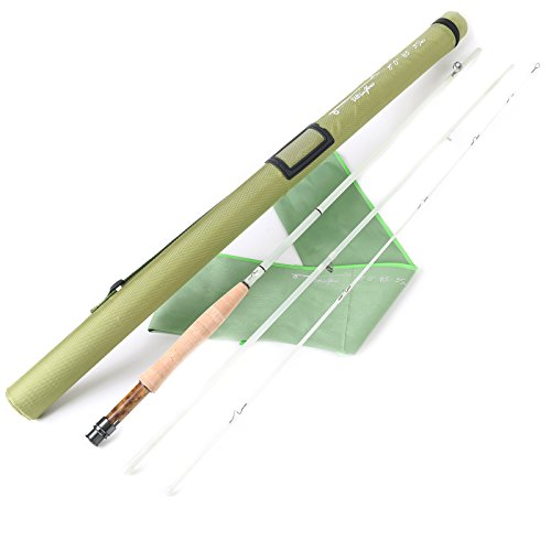 M MAXIMUMCATCH Maxcatch Fiberglass Fly Rod 8'0'' 5wt/ 7'0'' 3wt Three-Piece (Transparent, 8'0'' 5wt)