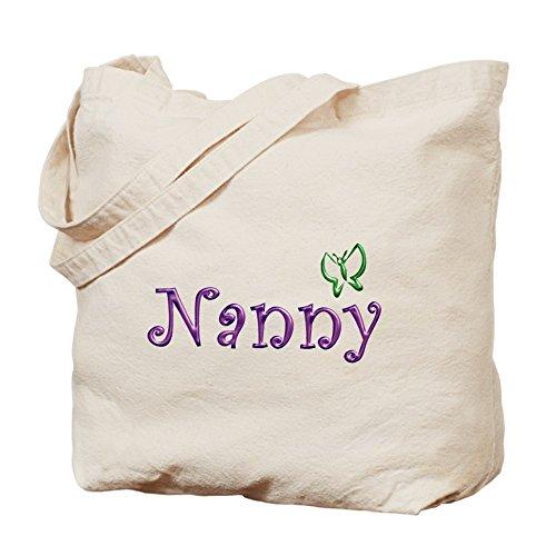 Cafepress–Nanny–Borsa di tela naturale, tessuto in iuta