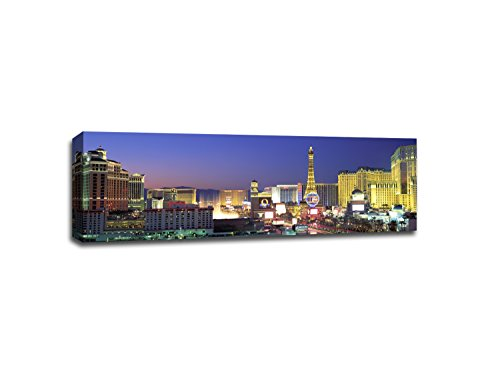 ArtsyCanvas Las Vegas Cityscape (48x16 Canvas), 48