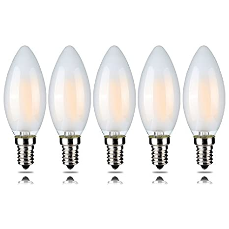 Pack de 5 bombillas LED regulables Candelabro – filamento – 5 unidades – UL Listed-