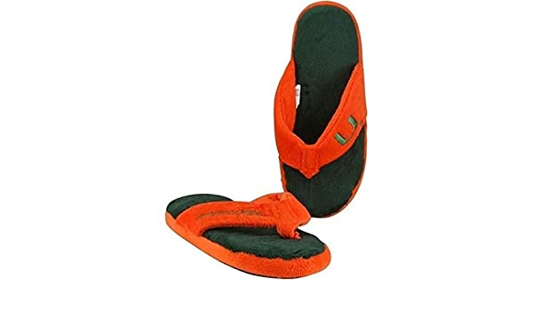 5fd2c7a16ebd8 Amazon.com   Forever Collectibles Miami Hurricanes NCAA Licensed Women s  Flip Flop Thong Slipper Adult Sizes (S)   Sports   Outdoors