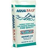 AQUASALT Aquasalt-40 Swimming Pool and Spa Chlorine Generator Salt-40 lbs. Pound, White