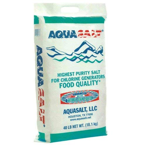 AQUASALT Aquasalt-40 Swimming Pool and Spa Chlorine Generator Salt-40 lbs. Pound, White