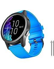 NotoCity för Vivoactive 4S rem, 18 mm klockarmband mjuk silikon ersättning för Vivoactive 4S (40 mm), Vivomove 3S (39 mm) Smartwatch