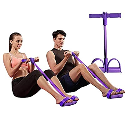 SOUFEEL Bande De Résistance Elastique Fitness, Pédale Tirer des Sit-ups d'artefact Taille Bras Jambe Exerciseur Portable…