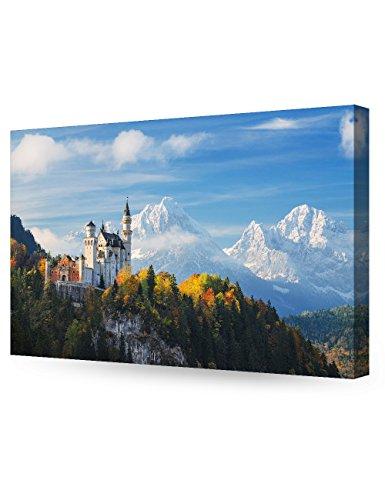 DECORARTS The Neuschwanstein Castle, Giclee Print on Canvas wall art for Home Decor. 30x20 x 1.5 - Castle Canvas Art
