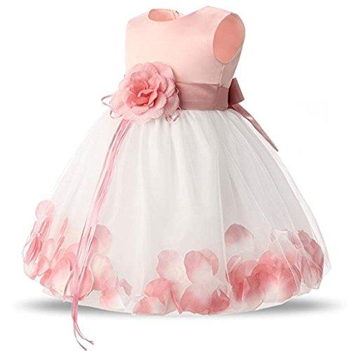 Bambina Maniche Abito Baby Principessa Battesimo Rosa Cocktail Sposa Piccolo Da Senza Sera vXXqTrE