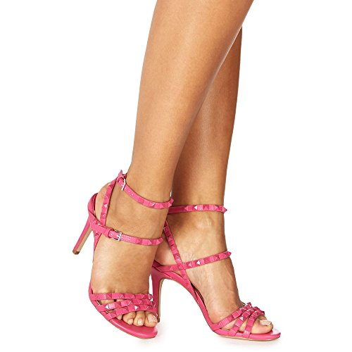 Debenhams Faith Womens Pink 'Lever' High Stiletto Heel Ankle Strap Sandals 6vKdrI1T