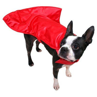 Wired Illusion Superhero Red Cape Dog Costume - Boots & Barkley S/M
