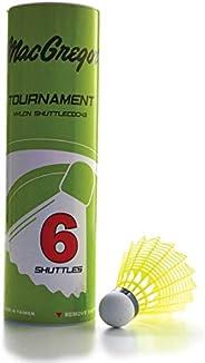 MacGregor Yellow Tournament Badminton Shuttlecock - Tube of 6